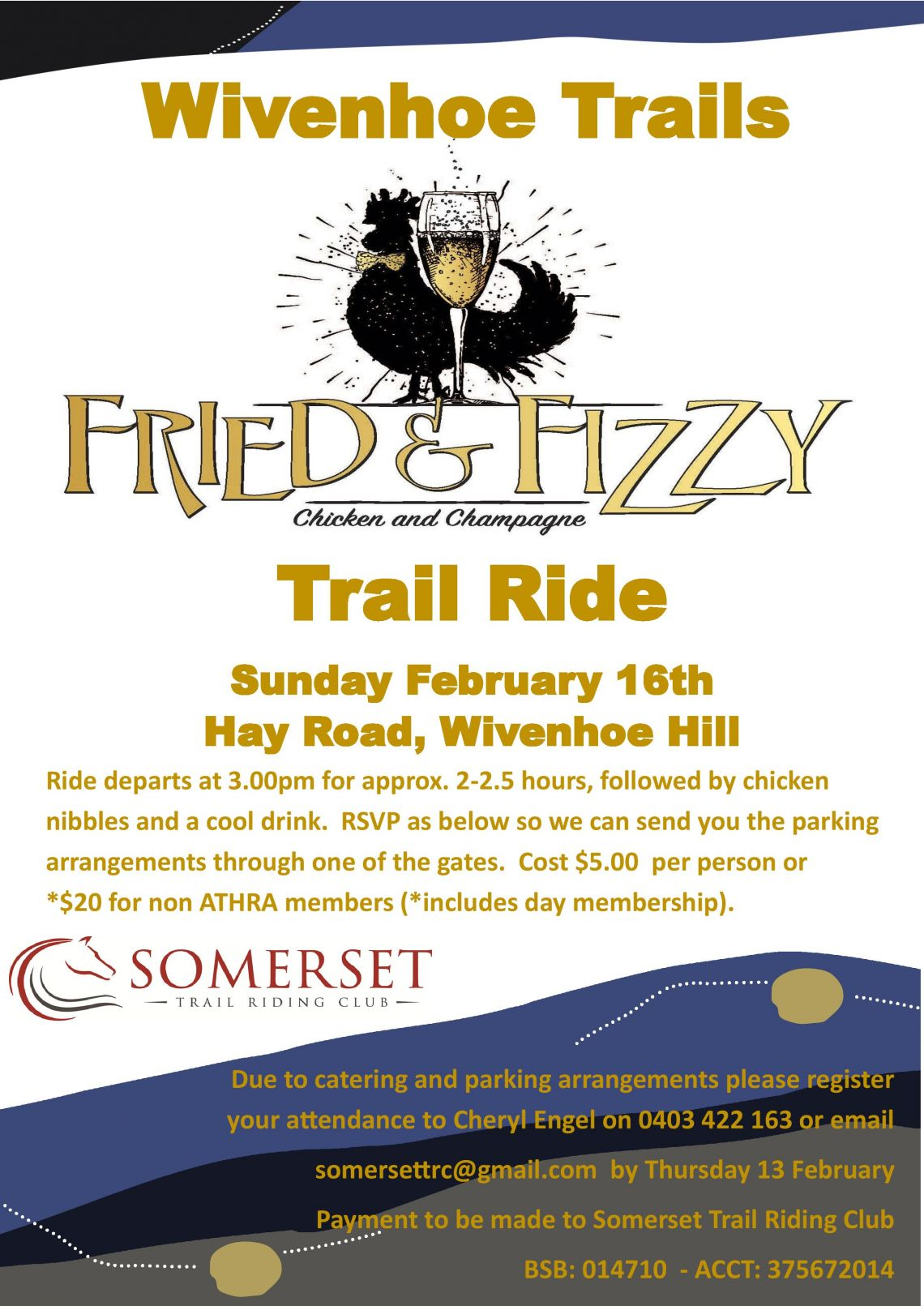 Wivenhoe Trails - Chicken and Champagne Ride
