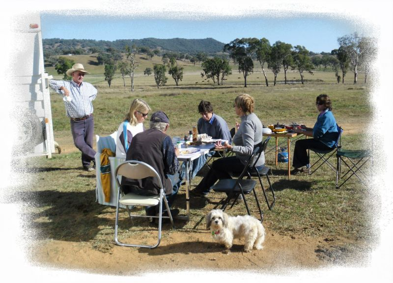 Caught enjoying bacon & eggs at Nundle.