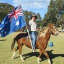 Steve and flag