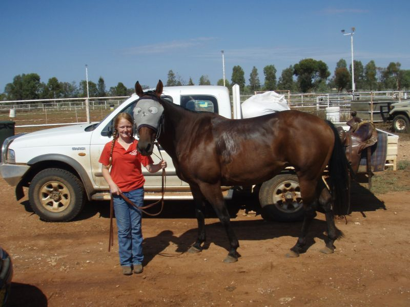 Courtney and her horse after ride