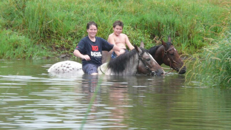 Kye & Ben, a well deserved swim