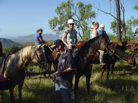 Riders enjoying the views of Cleveland Bay from the top of the Three Sisters at Alligator Creek