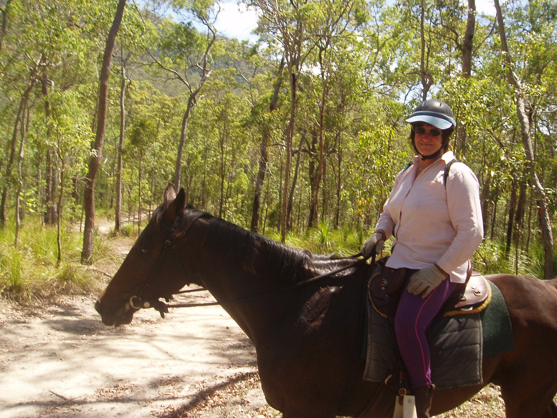 Jenny Emmonson enjoying the trailride.