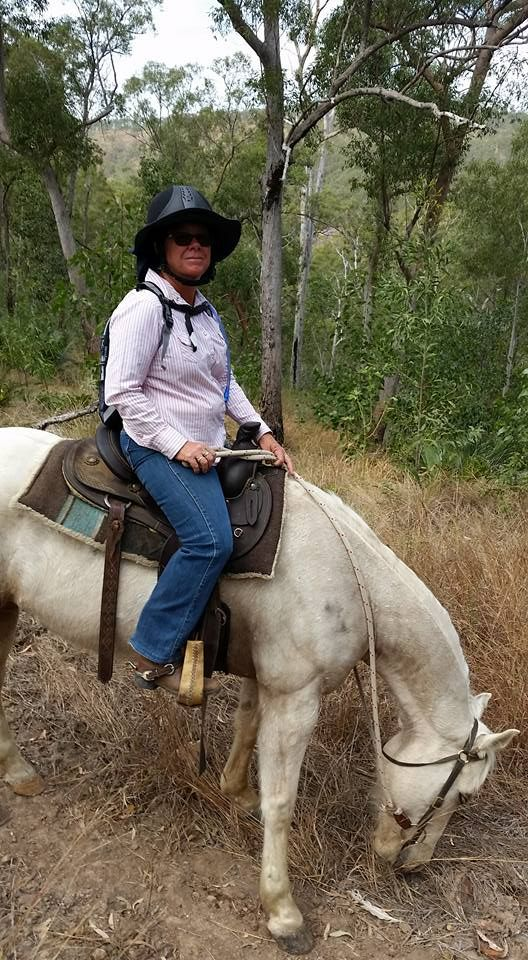 Glennys on the Mornish Ride - her first club ride on her new horse!