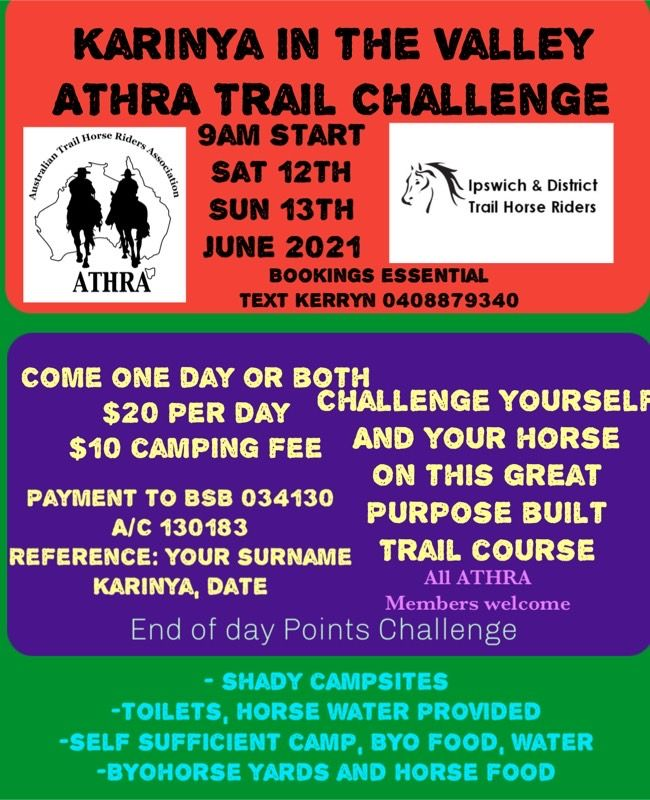 Karinya in the Valley Trail Challenge<br />35 Greers Rd<br />HELIDON SPA QLD 4344