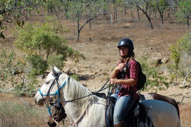 Juli on Warrior Day 1 OK Copper Mine Ride