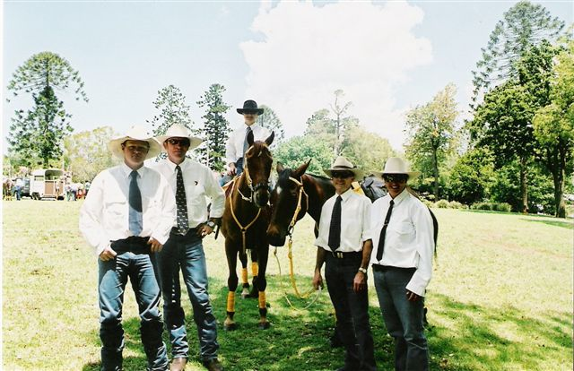 A few of the RASQ Outback Riders all dressed up and ready to rock n roll.