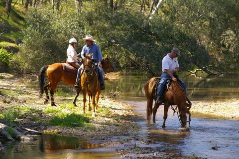 The river crossings were one of the many highlights of riding in Eldorado this year.