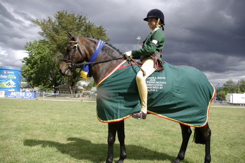 The Alex Horseman's are proud to support our local counrty Agg show 2008. Donating a embroidered satin rug for the top local Pony Club Rider.