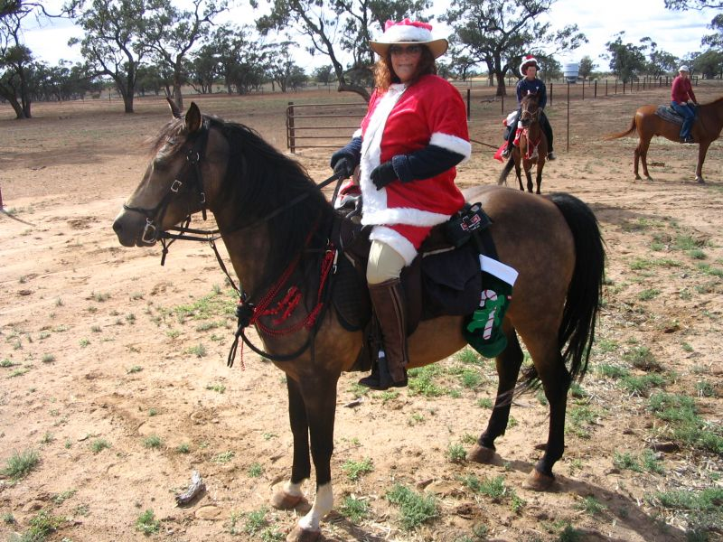 Santa Claus - ready to ride