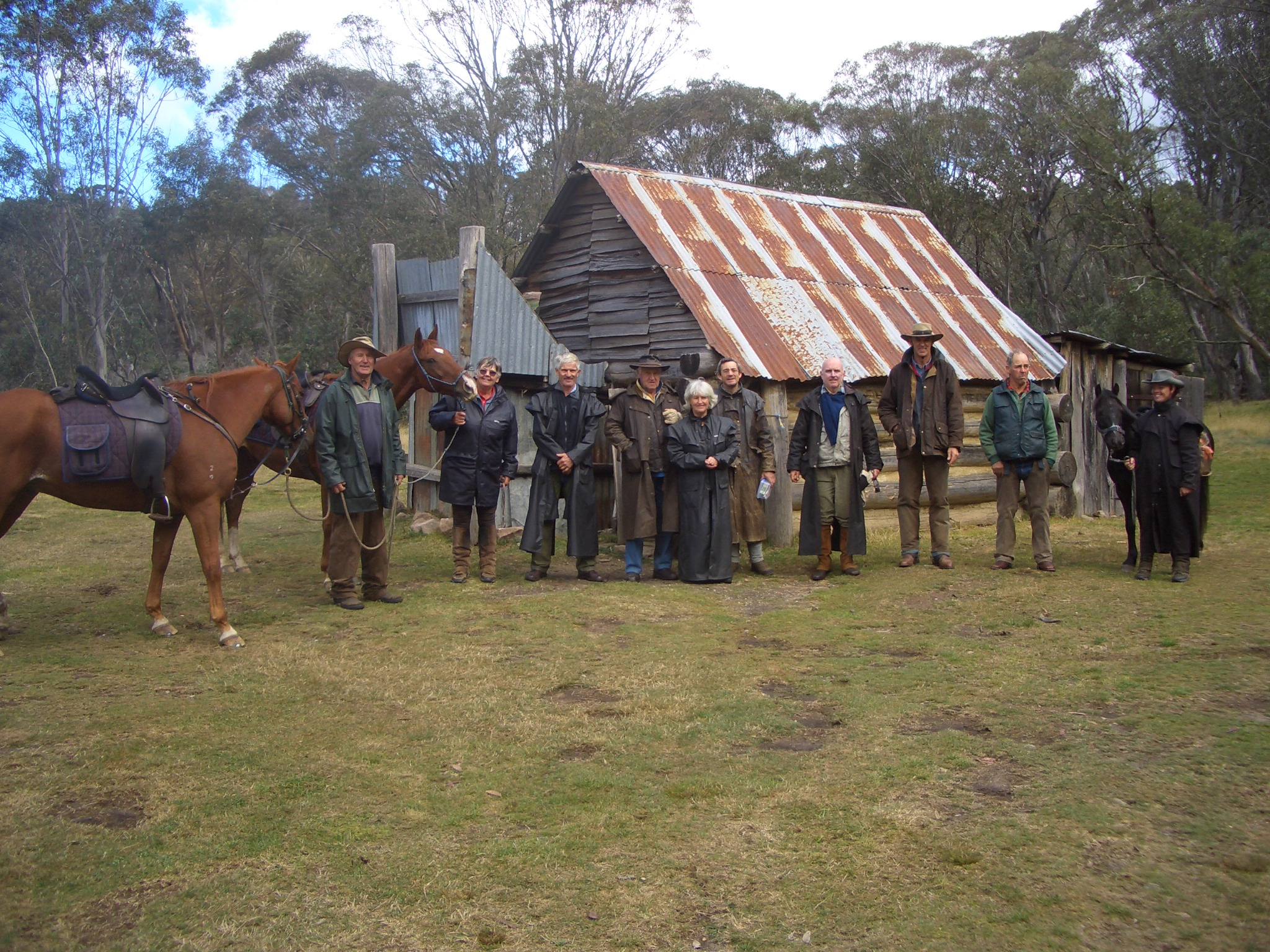 Riders arrived at Davies Plain Hut
