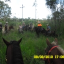 The 7 Daring riders going onto Charlton Hill- Jess, Craig, Tory, Kellie, Chaney, Joan and Lakum
