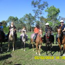 Bailey, Kellie, Tory, Shelby, Joan and Beth ready to ride out at Glendale